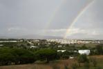 Achterbalkon regenboog
