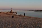 Fuzeta vissers op strand